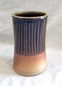 Hand Thrown Studio Art Pottery - Vase/Utensil Holder, Buck Pottery Gruene, Texas