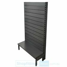 Single Sided Metal Slatwall Gondola Starter Bay 1500x900x300mm Black/Hammertone