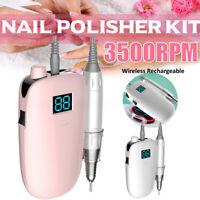 Wireless Portable Nail File Drill Electric Nail Polish File Machine Manicure