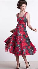 104. Anthropologie Womens Black Rose Tulle Noisette Dress by Tracy Reese 4P