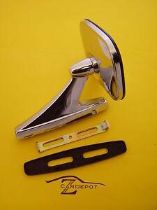 Datsun 240Z 260Z 280Z 1969-78 Outside Rearview Mirror Chrome NEW 084