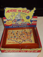 VINTAGE 1940-50S AMERICAN TOY & FURNITURE CO ACROSS THE USA GAME