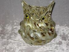 Unique Glass Owl Shape Vase Flowers Bird Collectible NEW!