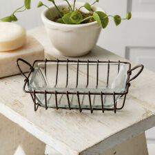 Rustic Wire Soap Dish with Glass Dish