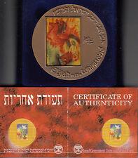 Israel 1993 PROPHET ELIAHU /Saul and David by Reuven Rubin Art Medal 70mm Bronze