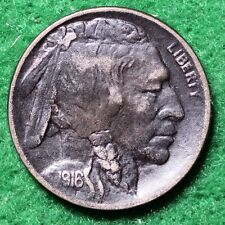 1916-D INDIAN HEAD (BUFFALO) NICKEL in EXTREMELY FINE (EF) CONDITION