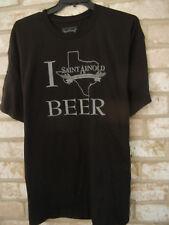 SAINT ARNOLD CRAFT BREWRY oldest in Texas mens 2XL Black crewneck T-SHIRT New