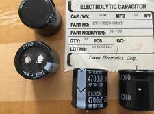 20 pezzi Electr cond. Luxon snap-in 4700uf 50v 30x30 rm10 105 ° 35 € spedizione incl.