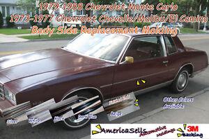1968-1988 IMPALA, EL CAMINO, CHEVELLE, NOVA, MONTE CARLO BODY SIDE MOLDING