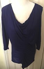 BNWT Oasis Women Purple 3/4 Sleeve Top Size M