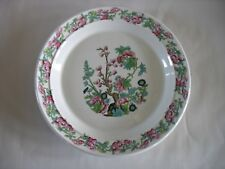 "Vintage ? Rare? Portmeirion Indian tree 10 1/4"" deep Dinner plate pink flowers"