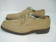 Fratelli Select Mens Beige Leather Square Toe Stitching Oxfords Shoes Size 10 M