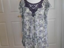 Apt 9  Floral Tunic Blouse XL  Spring Summer Excellent Condition