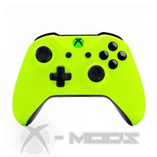 XBOX ONE CUSTOM CONTROLLER - BLACKOUT - Neon Yellow - Soft Touch - X-Mods