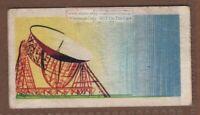 Jodrell Bank Observatory Radio Telescope Astrophysics  Vintage Trade Ad Card