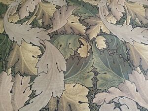 Acanthus Tapestry fabric by Morris & Co, 1.25m length, forest/hemp
