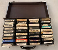 8 Track Cassette  Lot 27 Tapes Rock & Roll Country Aerosmith Styx Willie Nelson