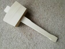 "4.5"" Wooden Mallet Hardwood Joiners Chisel Large Carpenter Wood Chiseling"