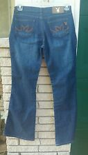 R.I.P Hugh Hefner Play boy jeans sz.5 boot cut dark denim