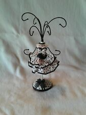 """Poke-a-Dot Mannequin or Jewelry Stand 9"""" Small White and Black"""