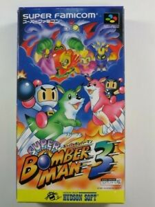 SUPER BOMBERMAN 3 SFC NTSC-JPN (COMPLETE WITH REG CARD - MANUAL WITHOUT COVER) H