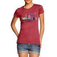 Twisted Envy Women's Love London Cityscape 100% Cotton T-Shirt