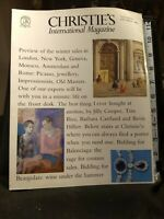 Christie's International Magazine  Nov / Dec 1988 Mark Wrey and Adam Hogg (ed)