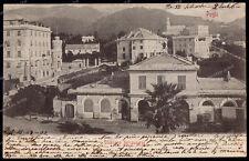 stazione ferroviaria Pegli-Genua-Ligurien-Italien -1902-Bahnhof-
