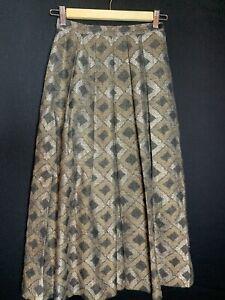 Vintage Jaeger Ladies Wool Maxi Skirt Size 6 (D4)