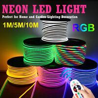 10M 220V LED Strip RGB Remote Neon Flex Rope Colorful Light 5050 RGB SMD