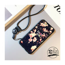 Creative Pink Flowers Multi-Use Cover Case with Necklace For iPhone 6/