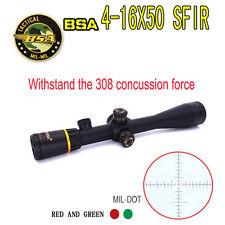 BSA 4-16X50 SFIR MIL-Dot 30mm Hunting Rifle Scope Illuminated Optics Tactical