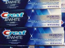(3) Crest 3DW DIAMOND STRONG,Or 3DW LUXE GLAMOROUS WHITE.Toothpaste. 3.5 oz each