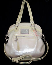 COACH POPPY 16303 Spotlight White Pearl Sequin Convertible Satchel Shoulder Bag