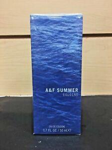 A&F Summer Abercrombie Fitch Eau De Cologne Spray 1.7 oz / 50 ml NIB Sealed Pack