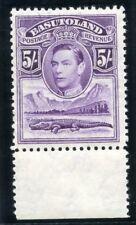 Basutoland 1938 KGVI 5s violet superb MNH. SG 27. Sc 27.