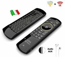 Rii Mini i25A Wireless - Tastiera con mouse, telecomando infrarossi e jack audio