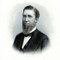 EDWARD CRIPPEN STANTON DELAWARE 1880s Portrait Steel Engraving Art Print