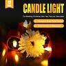 6/12PC Solar Powered LED Candle Flameless Electronic Flicker LED Tea Lights Lamp