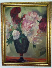 Flower Still-life Oil Painting Floral Impressionistic Peonies Signed