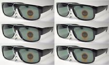 6X Eazy E Black Locs Car Motorcycle Gangster Cholo Rap Sunglasses GLASS LENS NEW
