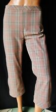 PATRIZIA PEPE  Pantalone Pinocchietto TG. 44 (veste poco) fantasia quadri