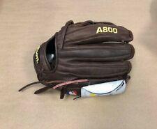 "Wilson Optima A800 11.75"" Travel Ball Fast Pitch LH Throw Baseball Glove"