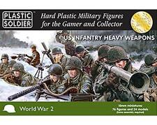 PLASTIC SOLDIER CIE Armes lourdes infanterie US WWII Figurines 15mm plastique