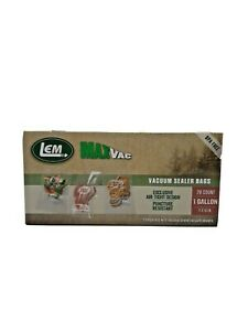 LEM MaxVac Vacuum Sealer Bags 1 Gallon 28 Count Brand New