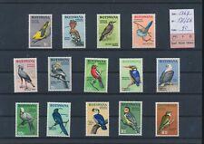 LL96077 Botswana 1967 birds animals fine lot MNH cv 90 EUR