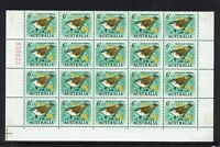 AUSTRALIA PRE-DECIMAL ...1964 6d THORNBILL...BLOCK OF 20..SHEET NUMBER..MUH