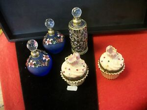 Vintage lot of perfume bottles and hinged magnetic boxes BEAUTIFUL LOT*