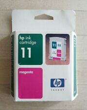 HP INK CARTRIDGE 11 Magenta 28ml 2200 2250 2600 NEW Genuine Old Date