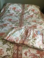 """Preloved vintage Jonelle """"Lac de fleurs's Double Couvre-lit & 76""""W X64""""L rideaux"""